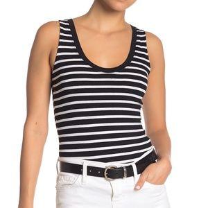 NWT Abound Tank Molly Stripe Thong Bodysuit XL